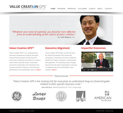 C. Laurin Arts Website for Value Creation GPS