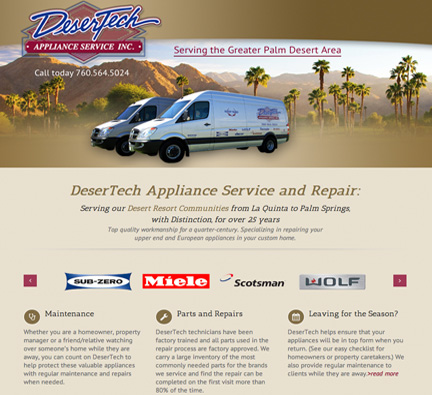 C. Laurin Arts image of DeserTech site - two vans