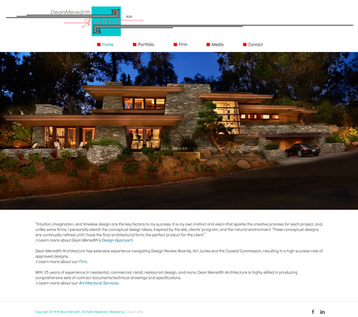 Dean Meredith Architecture Website