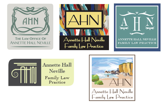C. Laurin logo samples for Annette Hall Neville Law